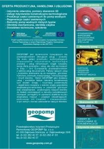 Folder reklamowy GEOPOMP
