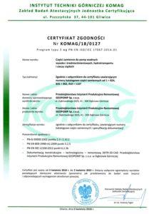 certyfikat-zgodnosci-komag-geopomp