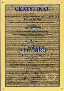 Solidna Firma Złoty Certyfikat