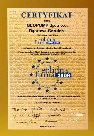 Złota Solidna Firma GEOPOMP